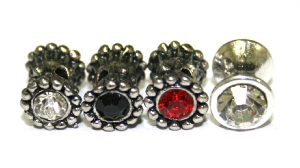 Bone Spacer with Colour Stones